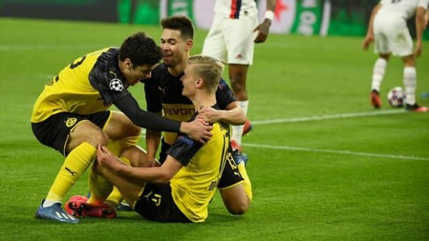 Dortmund beat PSG 2-1 with sensational Haaland double