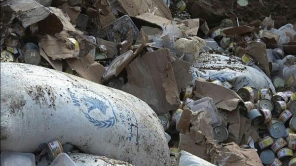 Houthis destroy seven tons of expired and damaged humanitarian aid in Hodeidah