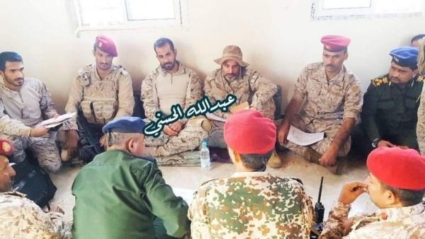 Saudi officers meet Yemeni army commanders on Abyan
