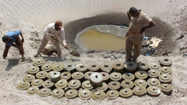 Saudi-backed landmine project clears explosives from Yemen's Taiz governorate