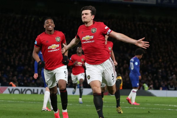 Chelsea 0-2 Manchester United: Martial and Maguire boost Champions League hopes