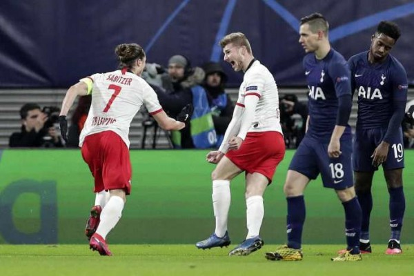 Leipzig make light work of Spurs with 3-0 win to progress to the quarter-finals for the first time ever