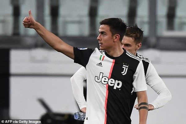 Juventus star Paulo Dybala 'tests positive for coronavirus' as Italian giants reveal 121 people, including players, directors and staff, are now in self-isolation after defender Daniele Rugani also contracted it