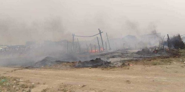 Fire at IDP camp in southern Hodeidah kills one child, injures four