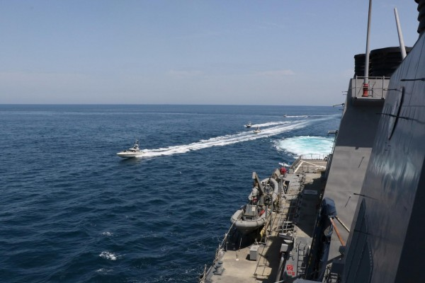Iranian vessels come 'dangerously' close to US military ships
