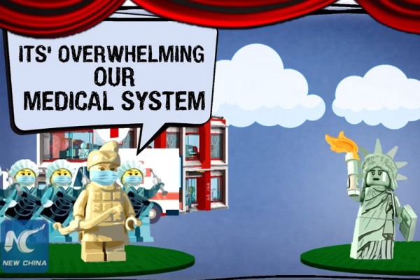 'Once Upon a Virus': China mocks U.S. coronavirus response in Lego-like animation